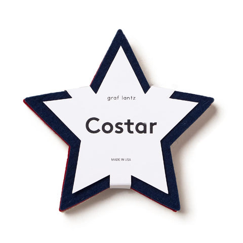 Wool Felt Star Coasters, Set of 4