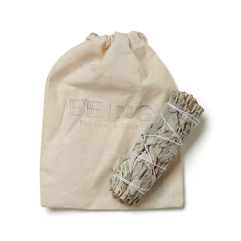 White Sage Smudge Stick With Storage Bag