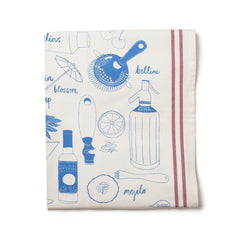 Ticking Cocktail Tea Towel