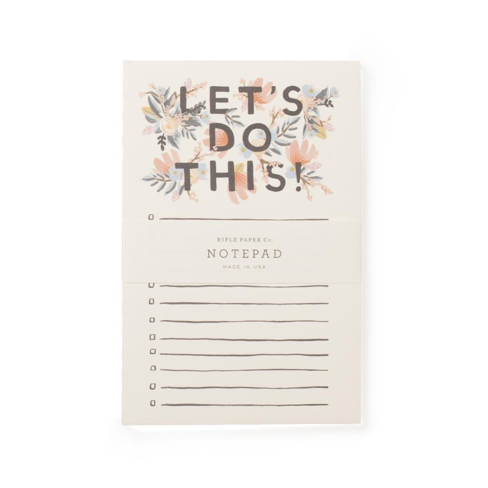 Let's Do This Notepad Gift Set
