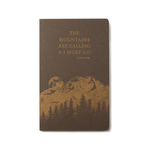 Handcrafted Letterpress Notebook - The Mountains