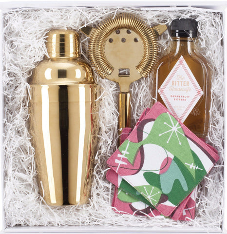 Retro & Gold Bar Accessories Gift Set