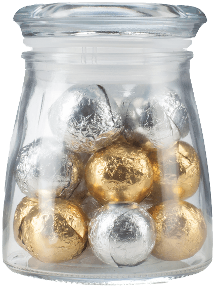 Silver & Gold Chocolate Favor Gift Set