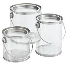 Clear Keepsake Paint Can Gift Set