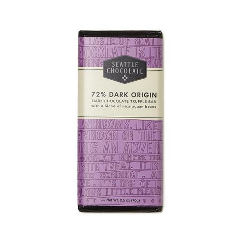 Seattle Chocolate 72% Dark Origin Truffle Bar
