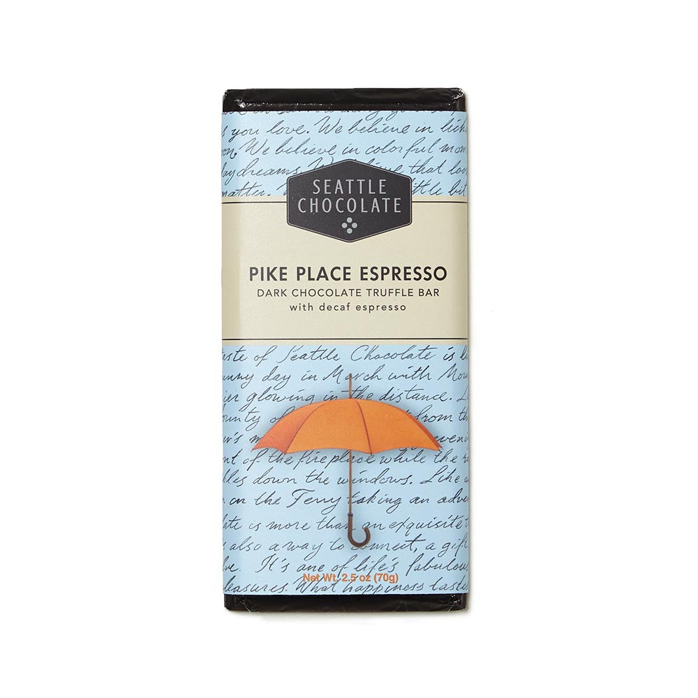 Seattle Chocolate Pike Place Espresso Truffle Bar, 2.5 oz