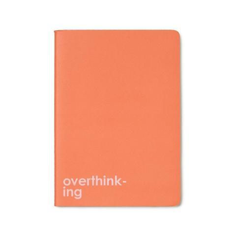 Overthinking Saddle-Stitch Notebook In Coral