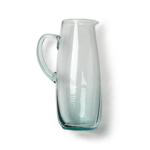 Be Home Recycled Glass Pitcher, max fill 56 oz, 10