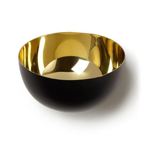 Small Steel Bowl With Gold Finish