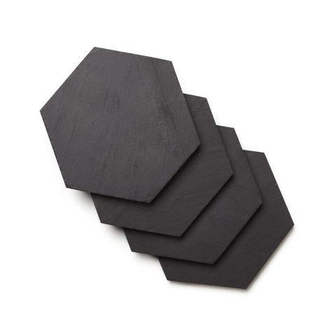 Geometric Slate Coasters, Set of 4