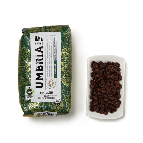 Caffé Umbria Terra Sana Blend Whole Bean Coffee