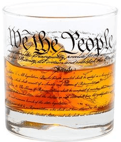 Well Told Constitution Rocks Glass, 11 oz, 3.5