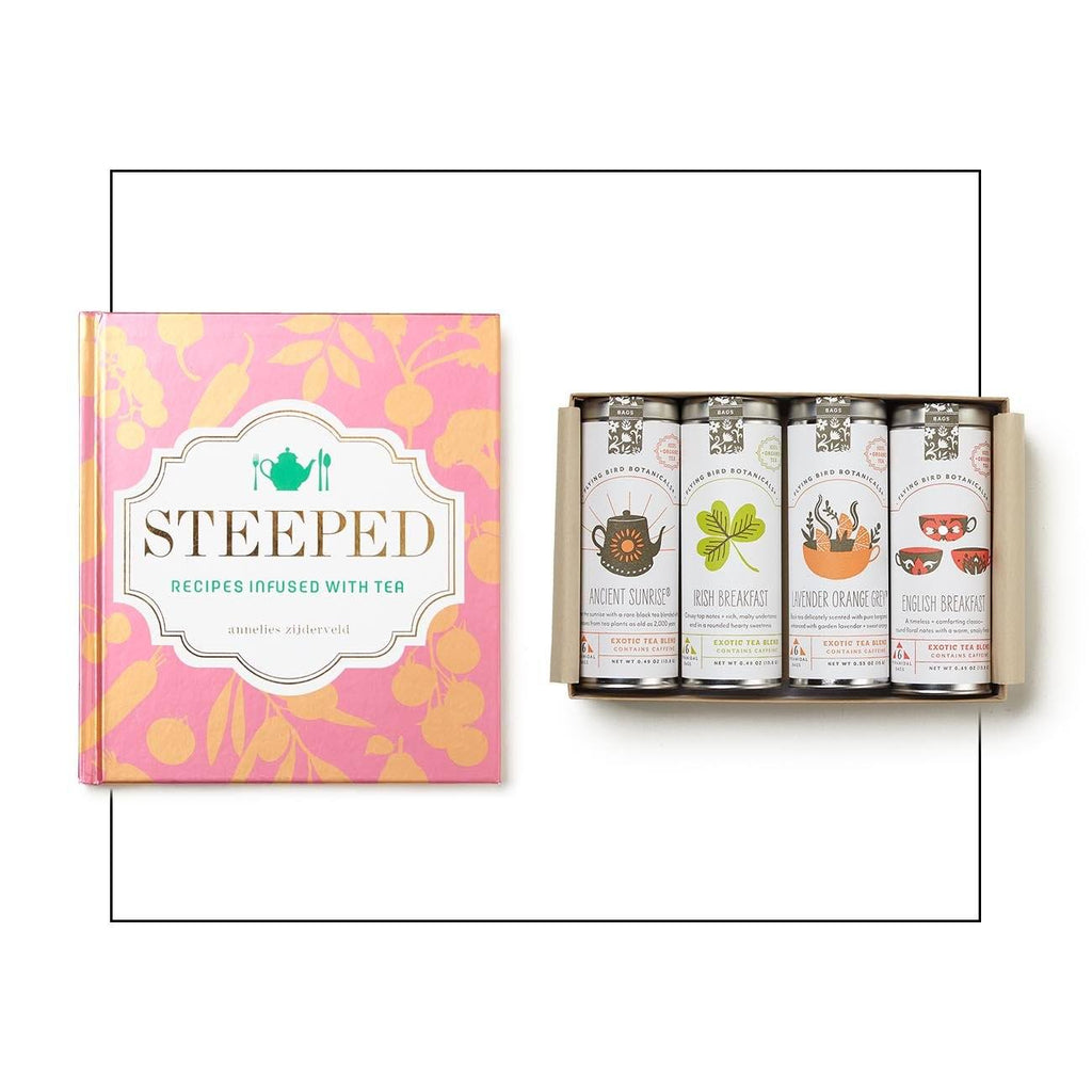 Set Of Teas With Book Of Tea Infused Recipes Gift Set