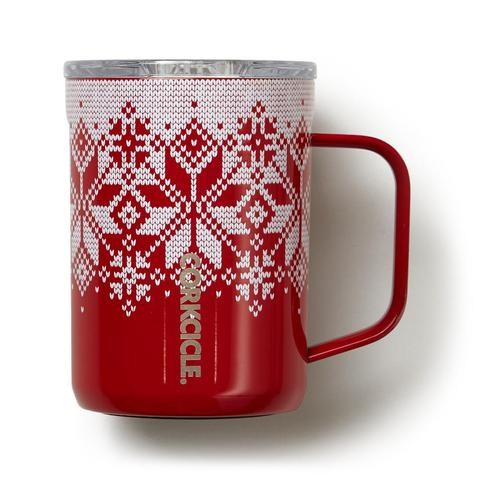 Corkcicle Holiday Fairisle Mug, 16 oz