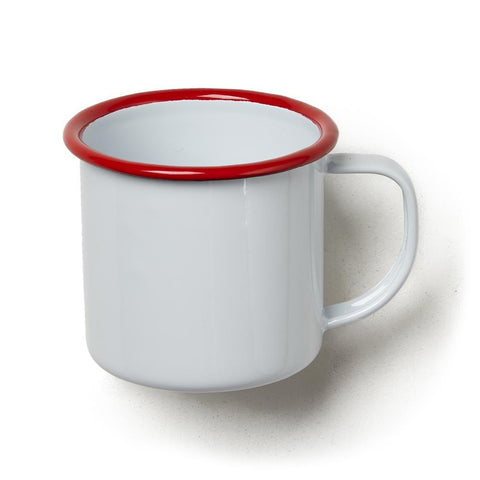 Red Rim Enamelware Small Mug