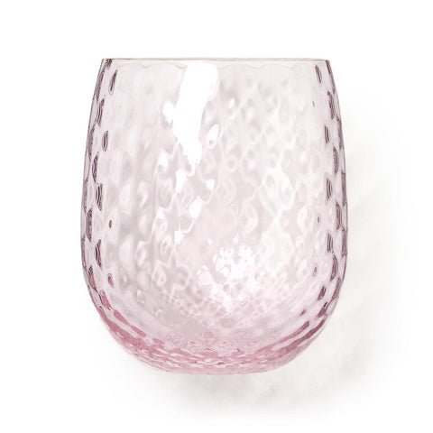 Artisan Handblown Wine Glass - Pink