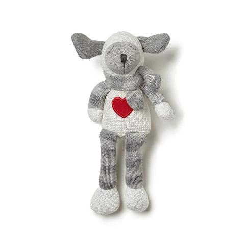Elegant Baby Lambie Knittie Toy For Kids In Grey