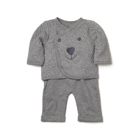 Elegant Baby Organic Baby Jacket and Pants In Grey