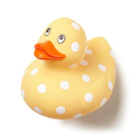 Polka Dot Bath Yellow Duck For Kids