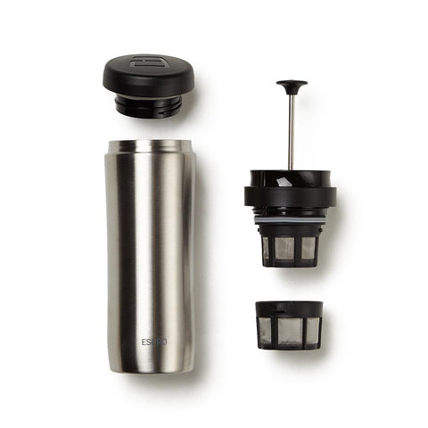 Espro Travel French Press, stainless steel, max fill 15 oz