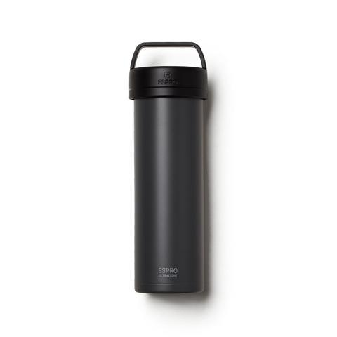 Espro Gunmetal Gray Stainless Steel Ultralight Travel French Press, max fill 16 oz