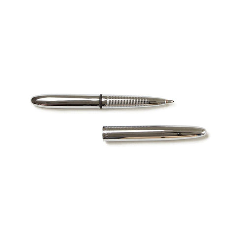 Fisher Chrome Bullet Space Pen, black ink, open: 5.25