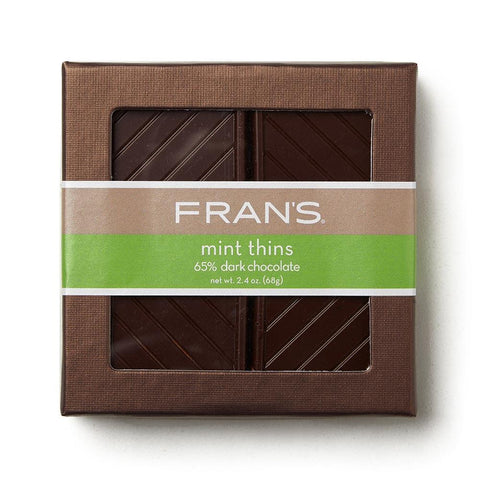 65% Dark Chocolate Mint Thins