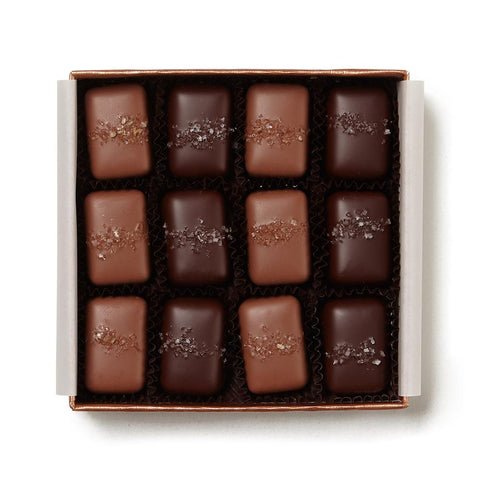 Signature Gray & Smoked Salt Caramels, 12 Pc