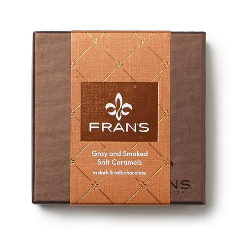 Fran's Chocolates Gray Salt Dark And Smoked Salt Milk Chocolate Caramels (12 Piece)