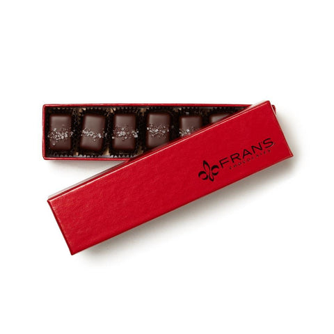 Holiday Salt Caramels Signature Red Gift Box