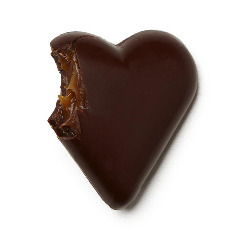 Dark Chocolate Caramel Heart - Pink