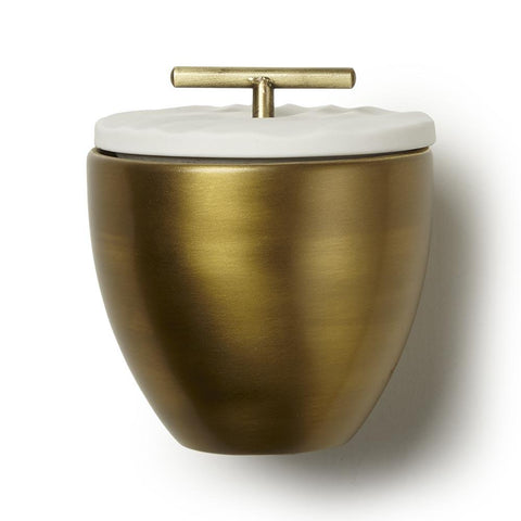 Frasier Fir Gold Metal Candle