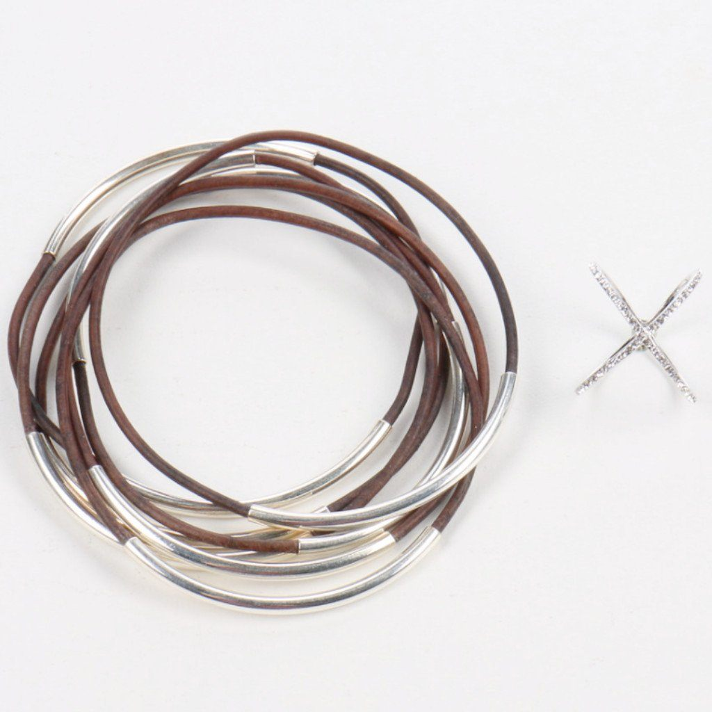 Charcoal Bangle & Sparkle Ring Gift Set
