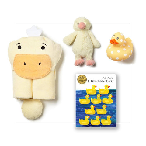 Rubber Ducky Bath Time For Kids Gift Set