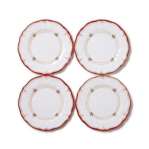 Berry Appetizer Plates, Set of 4