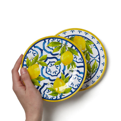 Lemon Appetizer Plates, Set of 4