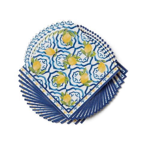 Paperproducts Design Lemon Beverage Napkins, package of 20, 5