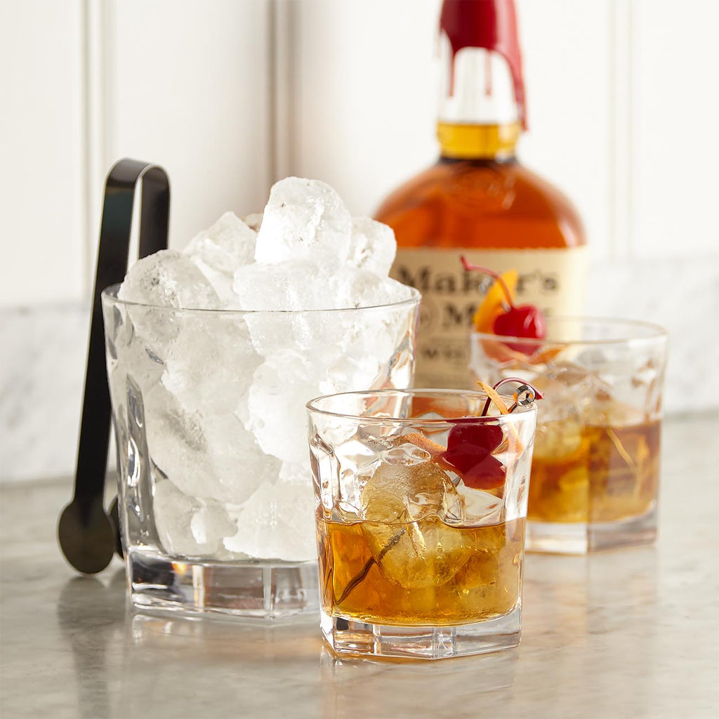 Old Fashioned Glasses And Ice Bucket Gift Set