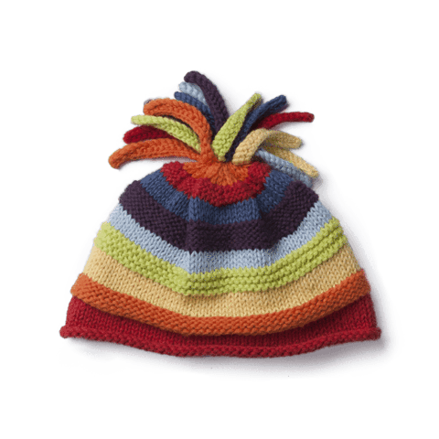 Stripey Hat, fits 0-6 months