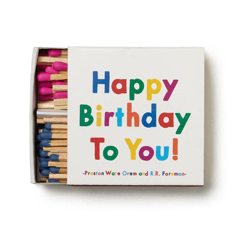 Happy Birthday To You Matchbox