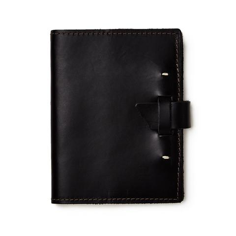 Black Cowhide Leather Journal