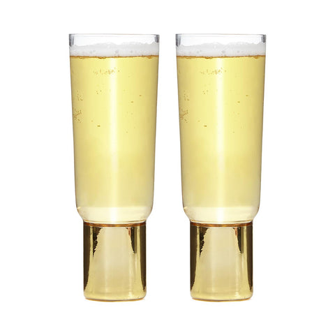 Club Champagne Glasses, Set of 2
