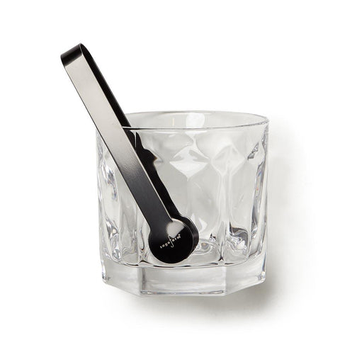Club Ice Bucket with Tongs