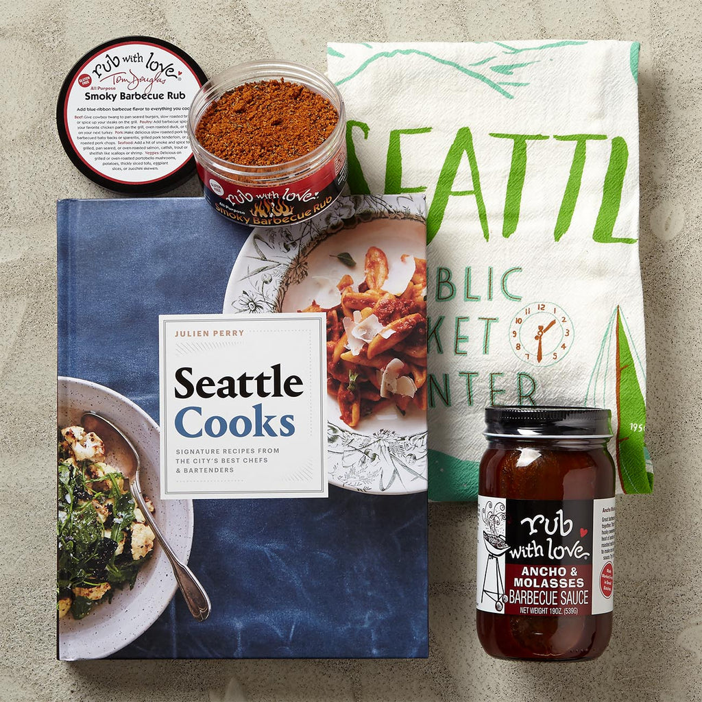 Seattle Cooks Gift Set With Tea Towel And Kitchen Essentials