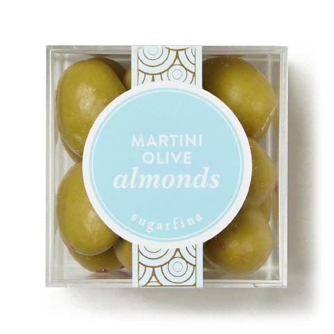 Sugarfina Martini Olive Almonds, net wt 2.8 oz, 16 pieces