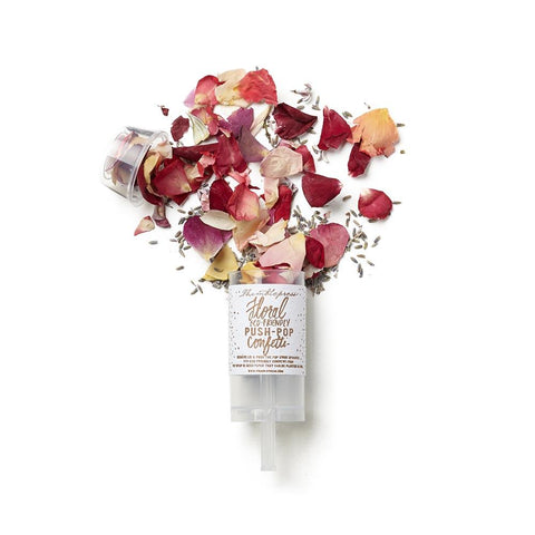 Eco-Friendly Floral Confetti Push-Pop