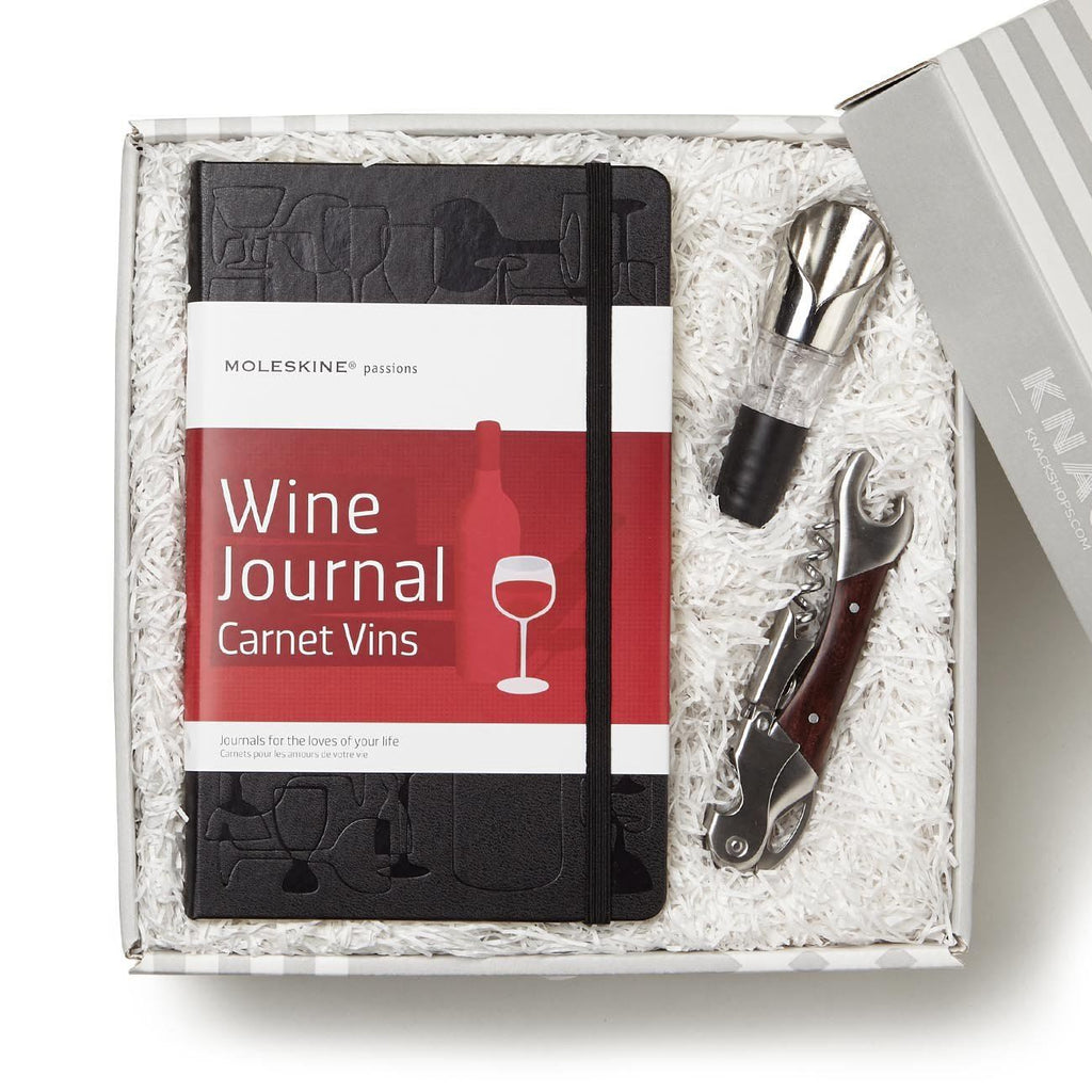 Wine Journal And Accessories Gift Box