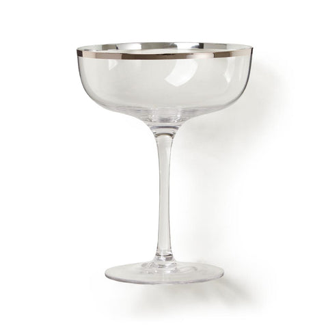 Copper Rimmed Coupe Glass