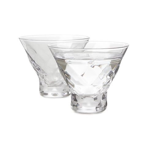 Gem Crystal Martini Glasses, Set of 2
