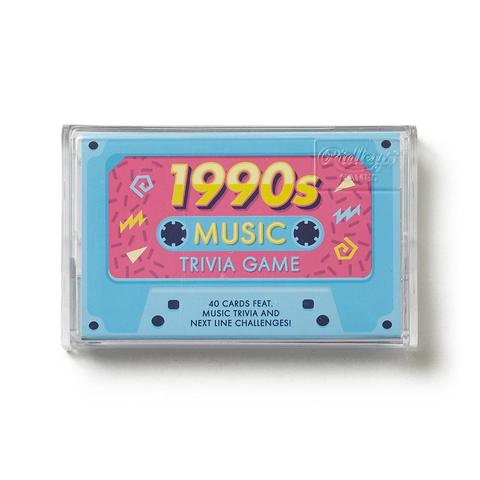 Wild & Wolf 1990s Music Trivia Game, 40 Question Cards